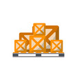 packing boxes on pallet icon vector image vector image