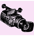 professional camcorder vector image