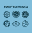 quality retro badges vector image vector image