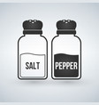 salt and pepper shakers flat design icon vector image