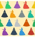 Seamless wedding background Colorful silhouettes vector image vector image