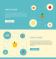set of berry icons flat style symbols with radish vector image vector image