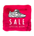 sneaker sale special offer poster or banner vector image vector image