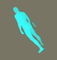 standing man design element man stands on his feet vector image