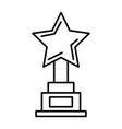 star trophy award icon vector image