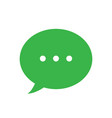 text message icon green speech bubble symbol vector image vector image