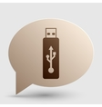 USB flash drive sign Brown gradient icon vector image vector image