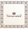 Vector vintage royal retro frame ornament