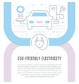 website banner and landing page eco-friendly vector image vector image