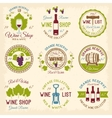 Wine Shop Colored Emblems vector image vector image