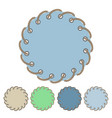 set of round stickers and labels with rope vector image