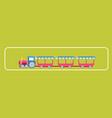 amusement park attractions child train carousels vector image