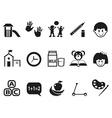 preschool icons set vector image