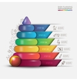 children pyramid for infographic vector image