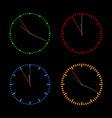 round dials with arrows vector image