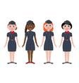 Stewardesses vector image