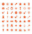 49 star icons vector image vector image