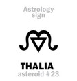astrology asteroid thalia vector image vector image