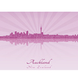 Auckland skyline in purple radiant orchid vector image vector image