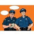 Bad good COP police vector image vector image