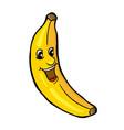 banana with smile vector image