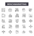 benchmarketing line icons for web and mobile vector image vector image