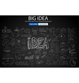 Big Idea Concept with Doodle design style finding