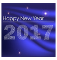 blue shiny happy new year 2017 from little vector image vector image