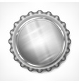 Bottle cap on white vector image