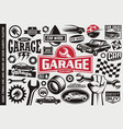 car service and garage symbols vector image