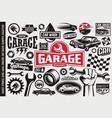 car service and garage symbols vector image vector image