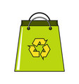 cartoon paper bag icon on white background vector image