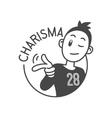 charisma character vector image vector image