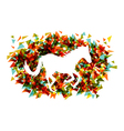 Chinese new year of the Horse shape triangle EPS10 vector image vector image