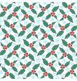 christmas mistletoe seamless pattern new year vector image vector image