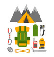 Climbing trekking equipment set