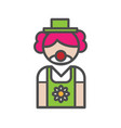 clown avatar icon on white background vector image vector image