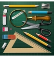 Colorful school supplies vector image vector image