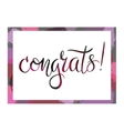 Congrats phrase in the frame vector image
