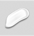 cosmetic cream texture white gel toothpaste or vector image vector image