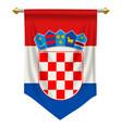 croatia pennant vector image vector image