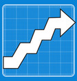 curved line with arrow vector image