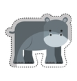 cute hippo character icon vector image vector image