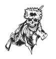 dead hunter vector image vector image