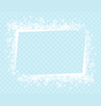 decorative frame with snowflakes for greeting text vector image vector image