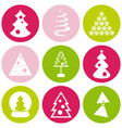 different color christmas vector image