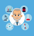 doctor medical equipment laboratory vector image vector image