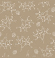 elegant hand drawn christmas seamless pattern vector image