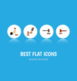 flat icon hammer set of crime law legal and vector image vector image
