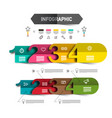four steps infographic template with icons and vector image vector image